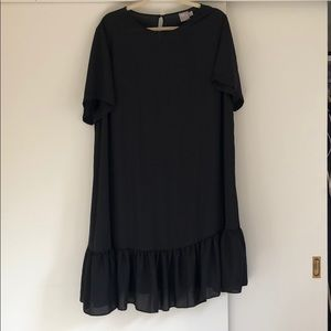 Black sheer dress slip included